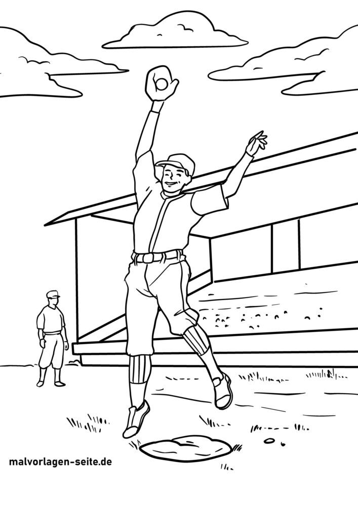 Faciens fuco colorem baseball page