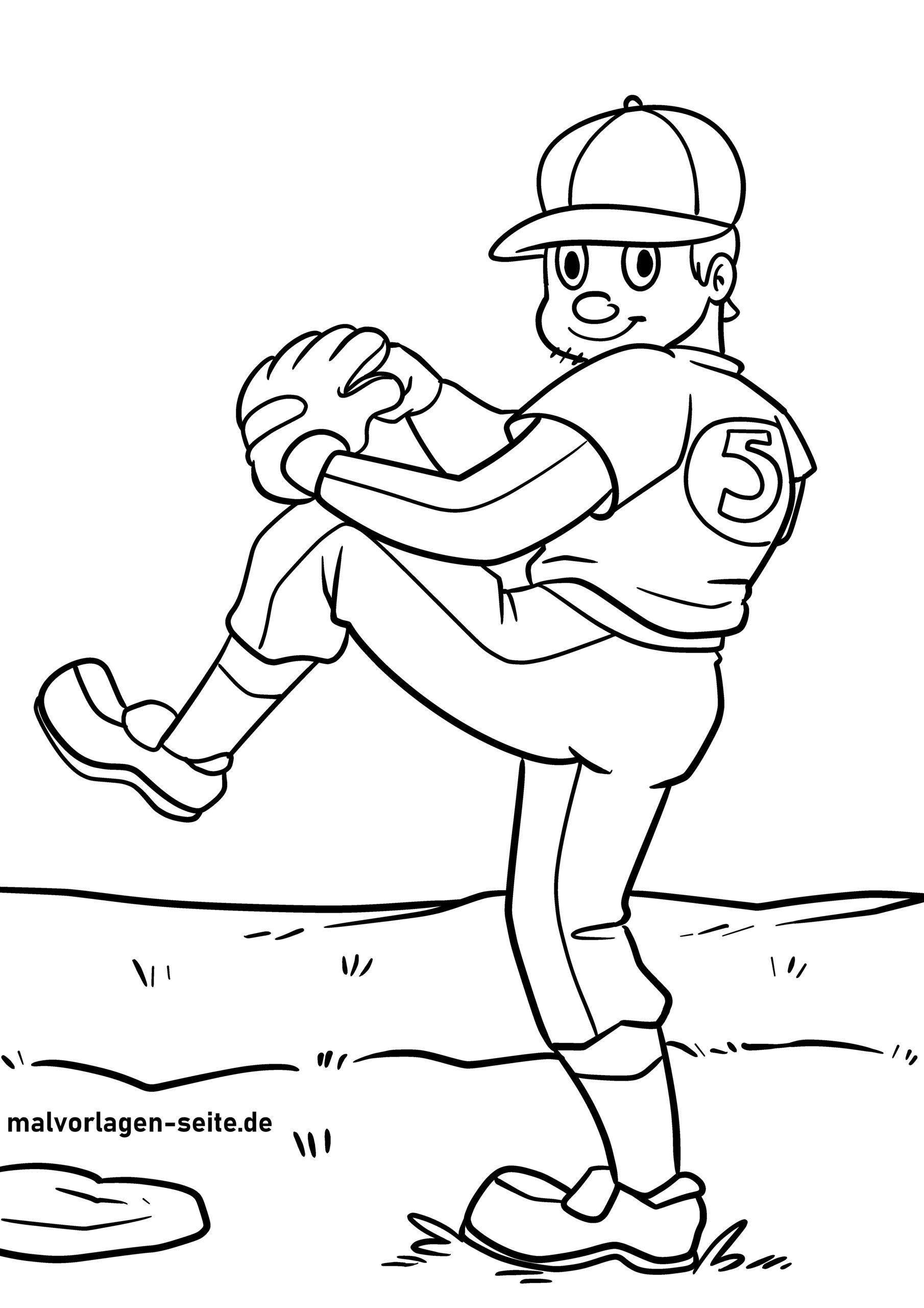 Omalovánka baseball