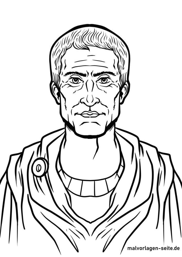 Boyama səhifəsi Gaius Julius Sezar