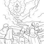 Värvimisleht Taevaminemispäev