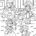 Halaman mewarnai anak Karnaval, Mardi Gras, Mardi Gras