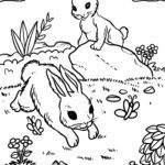 Coloring page rabbit