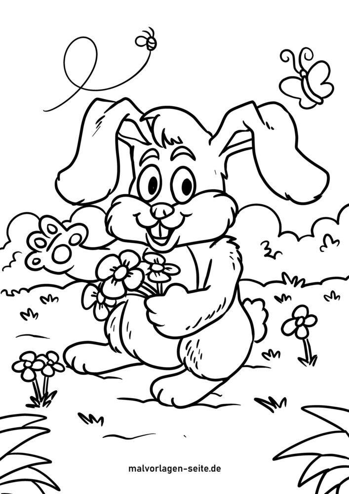 Halaman mewarnai kelinci