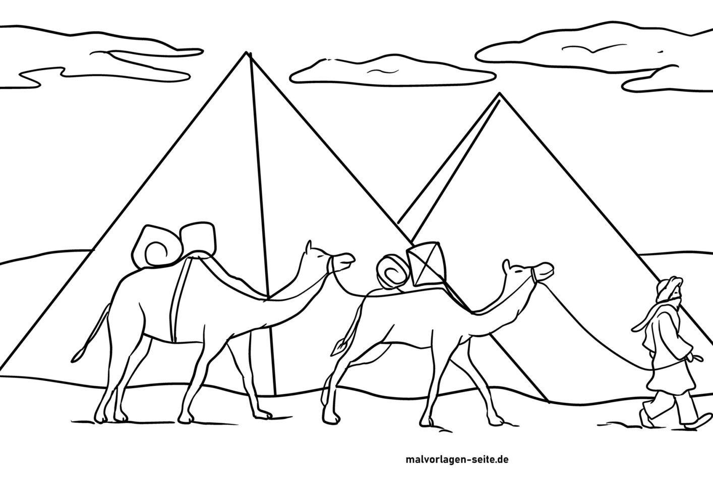 Litarefni Bedúín með úlfalda