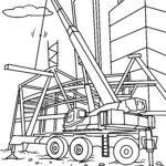 საღებარი გვერდის ამწე - სამშენებლო მოედანი