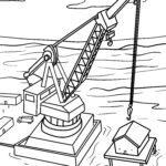 Malvorlage Hafenkran - Kran