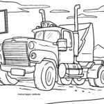 Coloring page truck tractor - lorry