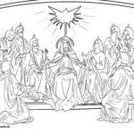 Värvimisleht Nelipüha - Püha Vaimu saatmine