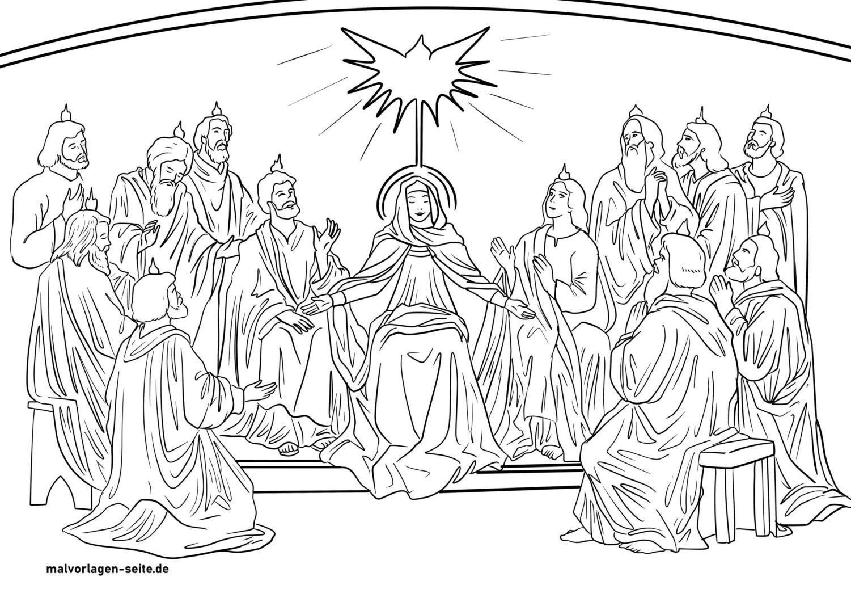 Panid sa pagkolor sa Pentecost - gipadala ang Balaang Espiritu