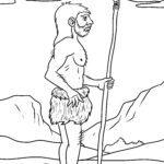 საღებარი გვერდი ნეანდერტალელები / ქვის ხანის ადამიანი