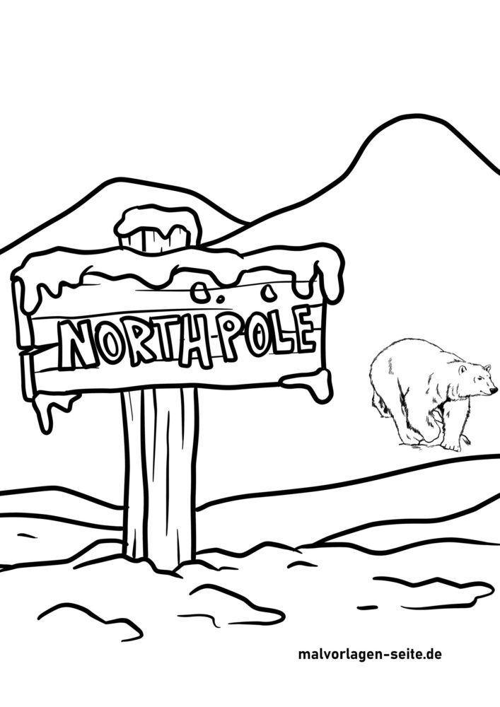 Halaman mewarnai kutub utara