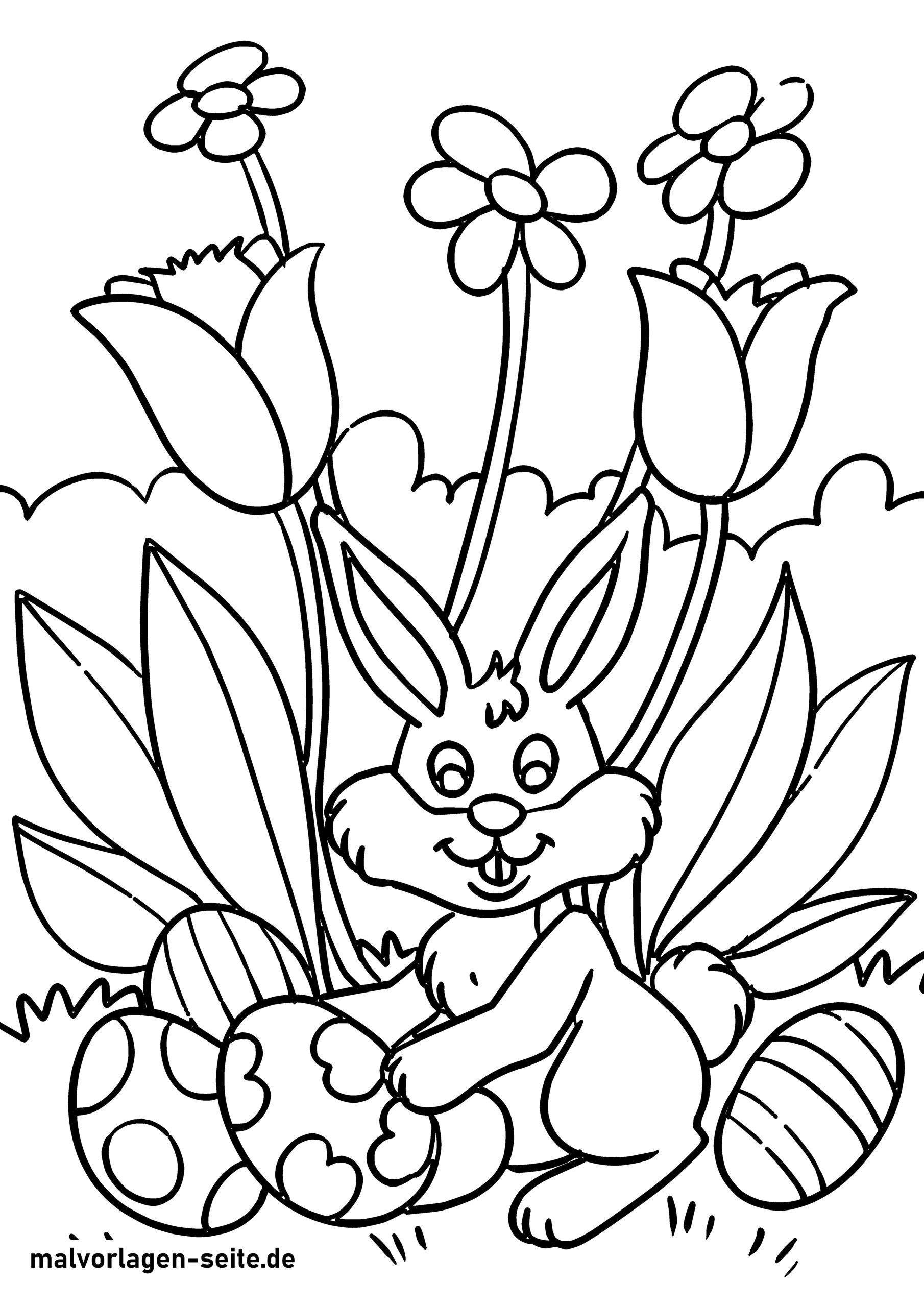 דף צביעה ארנב הפסחא