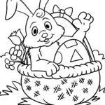 דף צביעה ארנב הפסחא - חג הפסחא