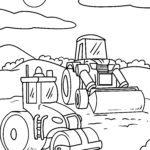 Värvimisleht buldooser - ehitusobjektid