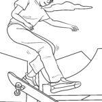 Skateboarding faciens fuco colorem page