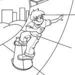 Faciens fuco colorem pagina skate tibia