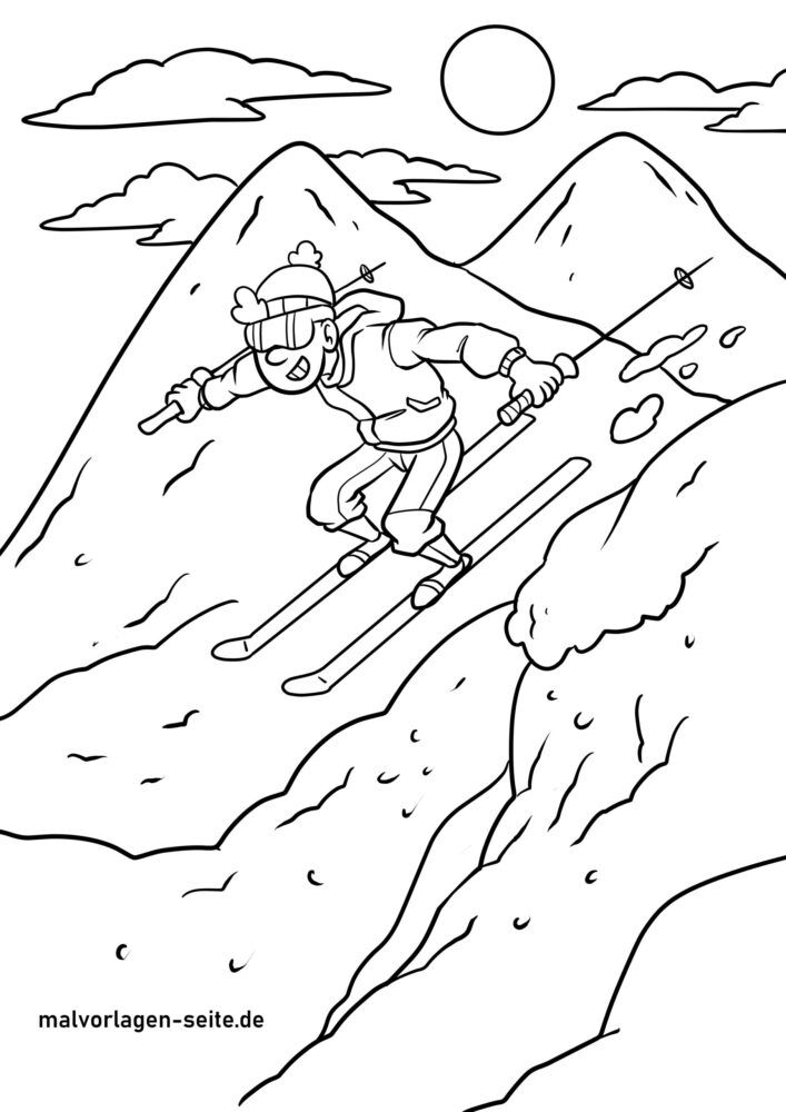 Σκι χρωματισμός σελίδας