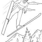 Скачкі на лыжах - кніжка-размалёўка па зімовых відах спорту