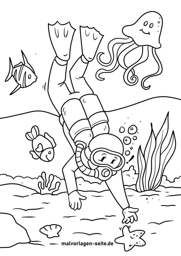 Omalovánka Potápění
