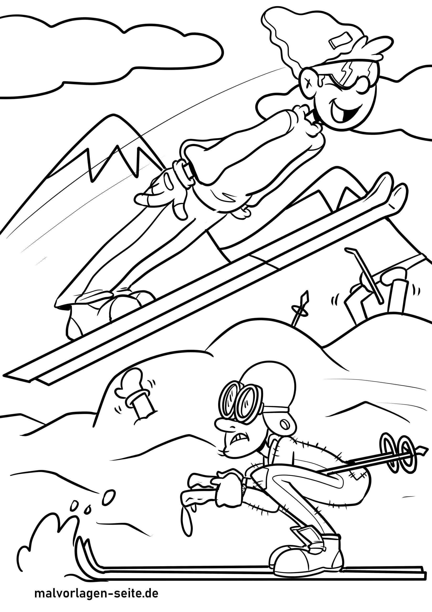 Χρωματισμός σελίδα χειμερινά σπορ
