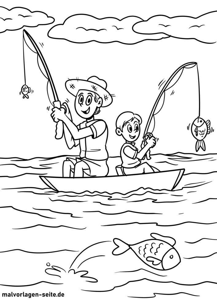 Գունազարդման էջը ՝ ձկնորսություն