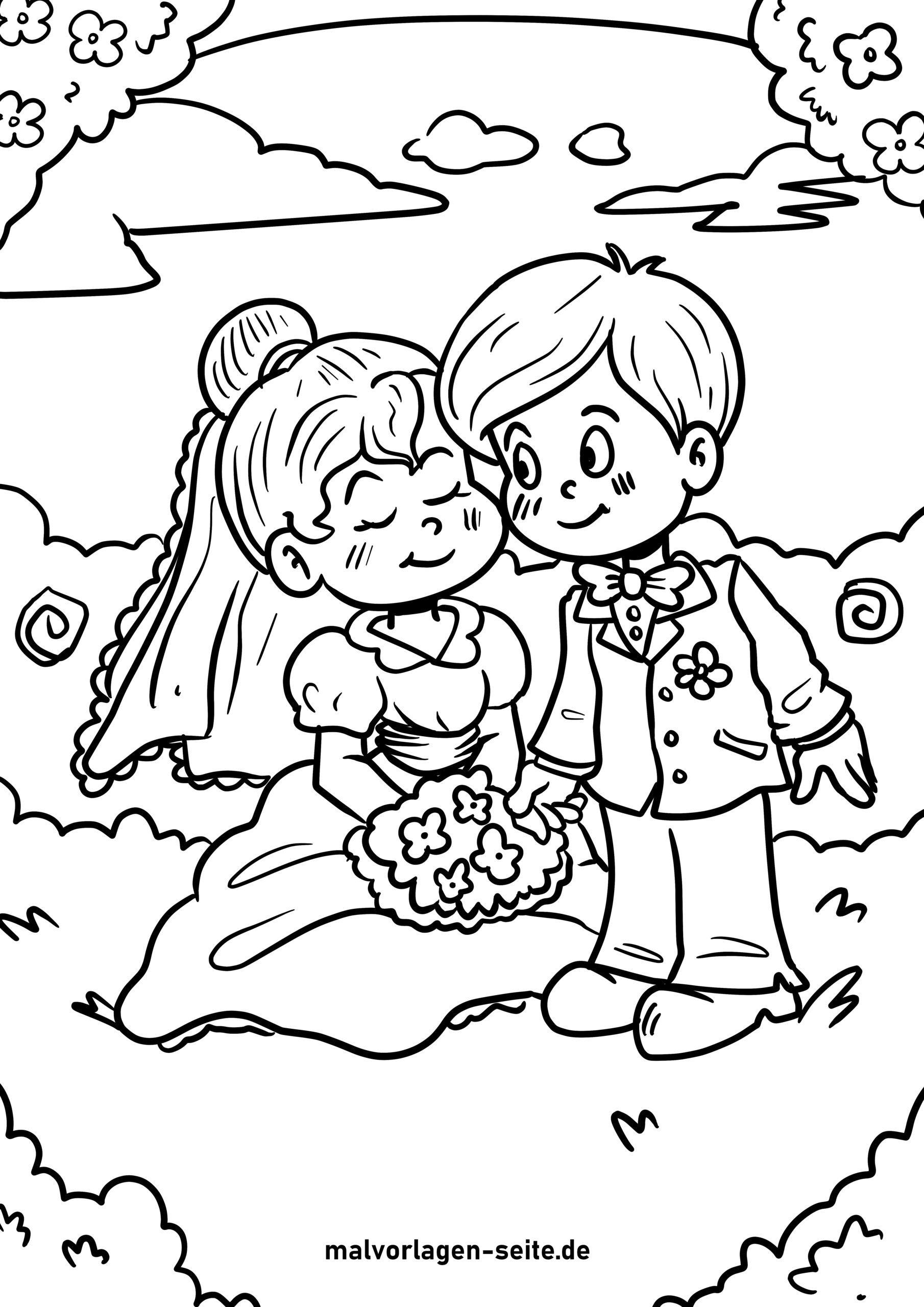 Tolle Malvorlage Hochzeit - Kostenlose Ausmalbilder