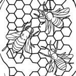 Dibujos para colorear abellas e panales