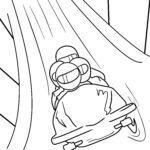 Χρωματισμός σελίδα bobsleigh - sport