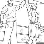 Ausmalbilder Boxen - Kampfsport
