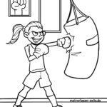 Malvorlage Boxerin