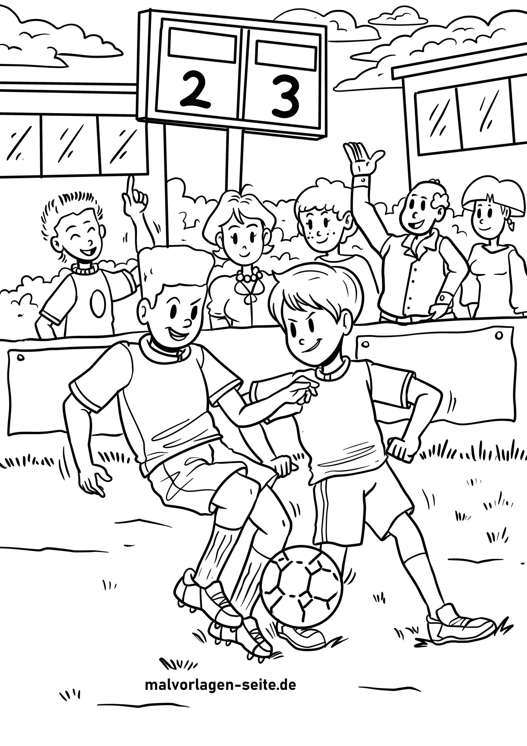Tolle Malvorlage Fußball - Sport - Kostenlose Ausmalbilder