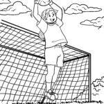 Dibujo para colorear porteiro de fútbol