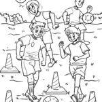 Dibujo para colorear adestramento de fútbol