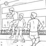 Páxina para colorear fútbol