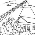 Malvorlage Ingenieur - Berufe Baustelle