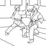 Malvorlage Karate - Kampfsport