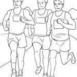Malvorlage Marathonläufer