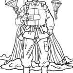 Malvorlage Fallschirmspringer / Fallschirmjäger
