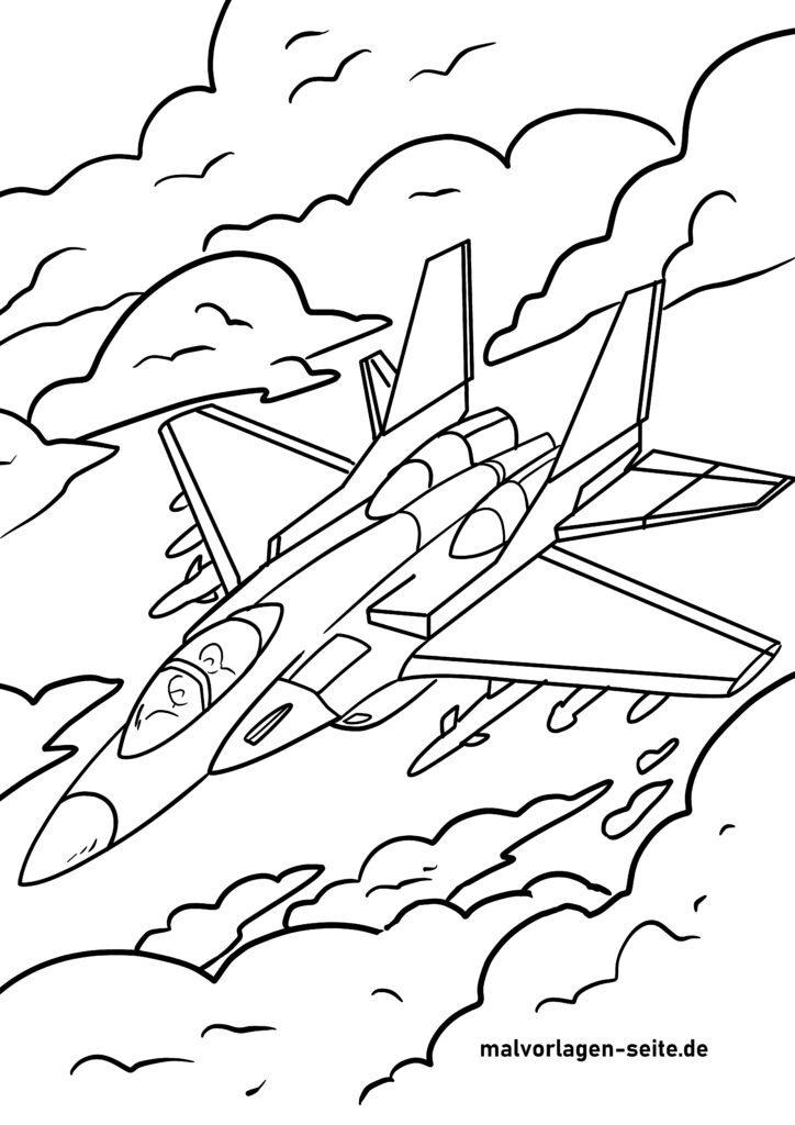 ausmalbilder flugzeuge kostenlos herunterladen und ausmalen
