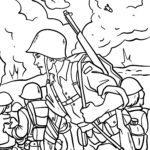 Malvorlage Krieg