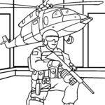 Malvorlage Soldat
