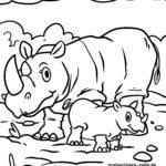 Размалёўка насарог - жывёлы