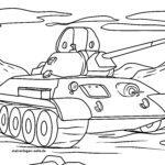 Размалёўка ваенныя - танкі