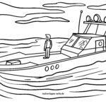 Dibujo para colorear policía da auga