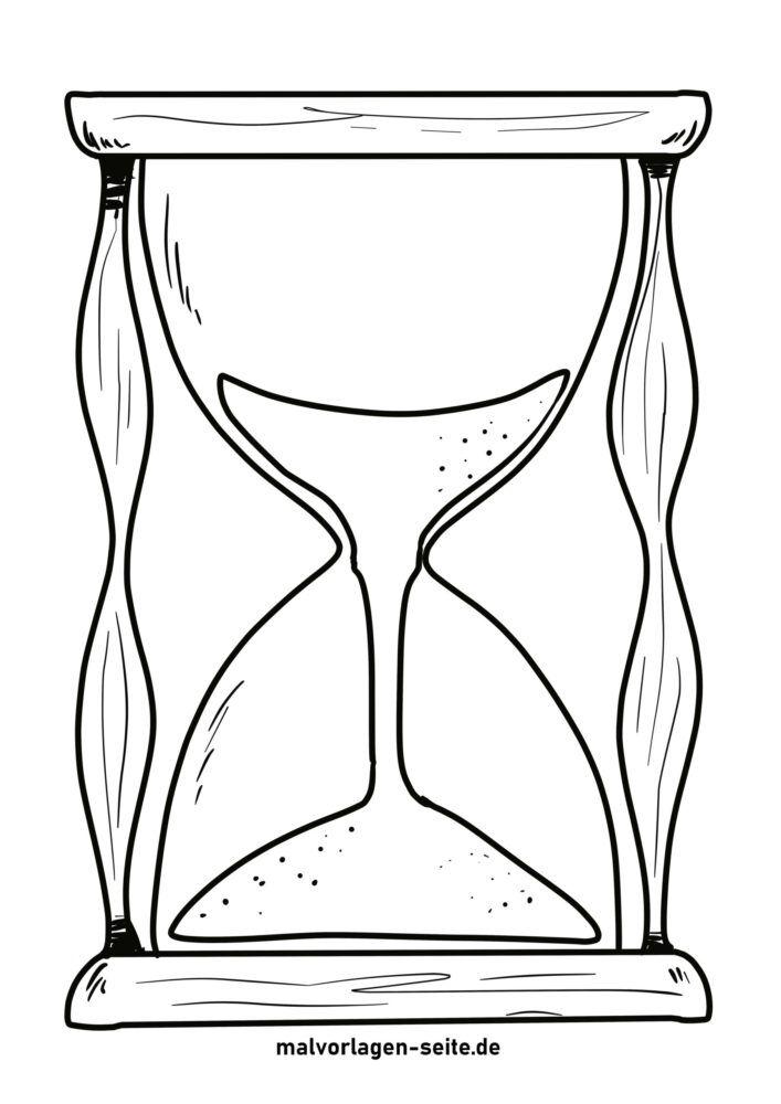 Раскраска песочные часы