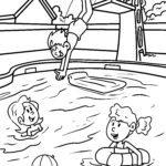 Усан бассейнтай усан хуудсыг будах