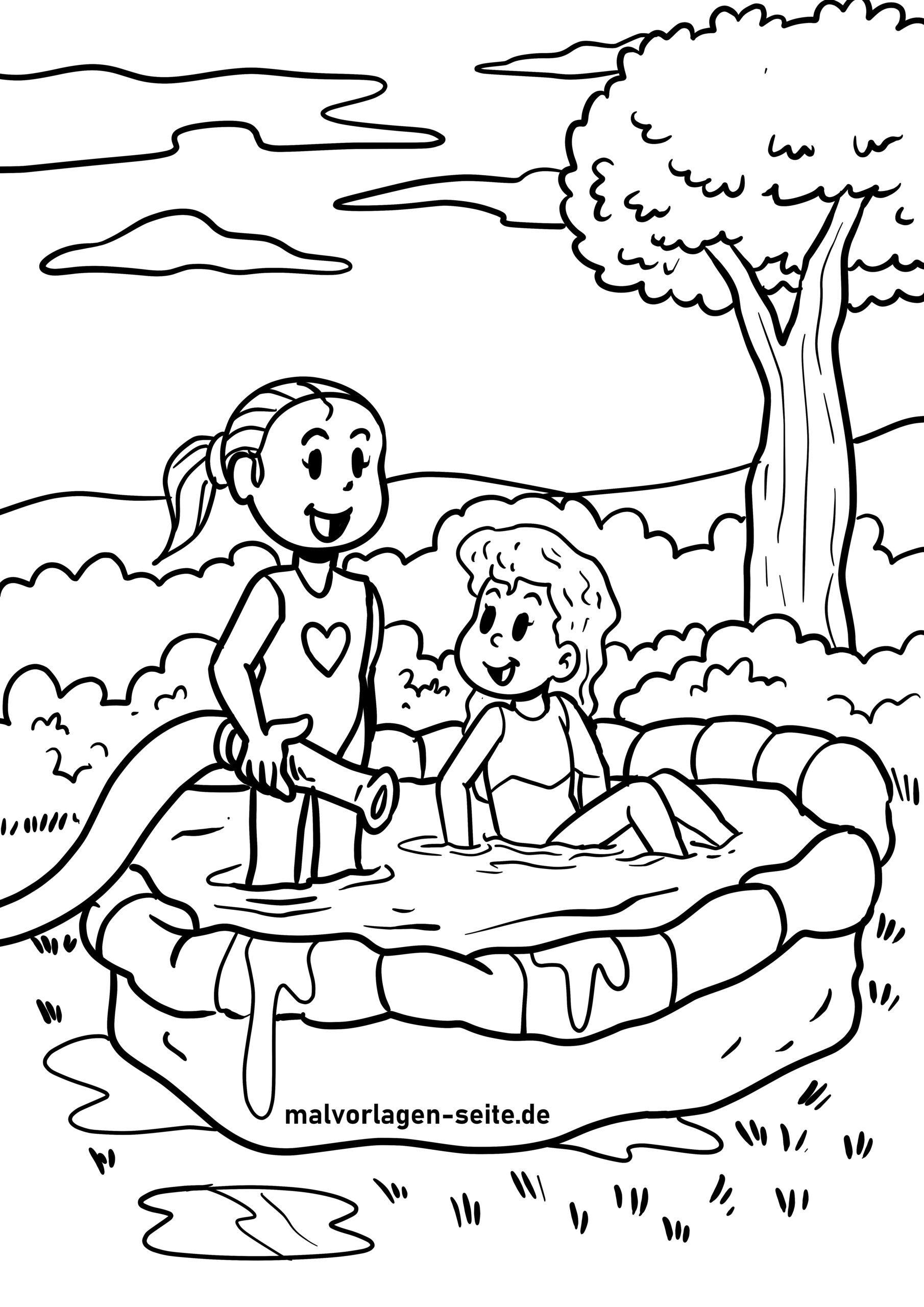 kostenlose malvorlagen sommer für kinder zum ausmalen