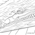 Усан сэлэлтийн өнгөт хуудас - спорт