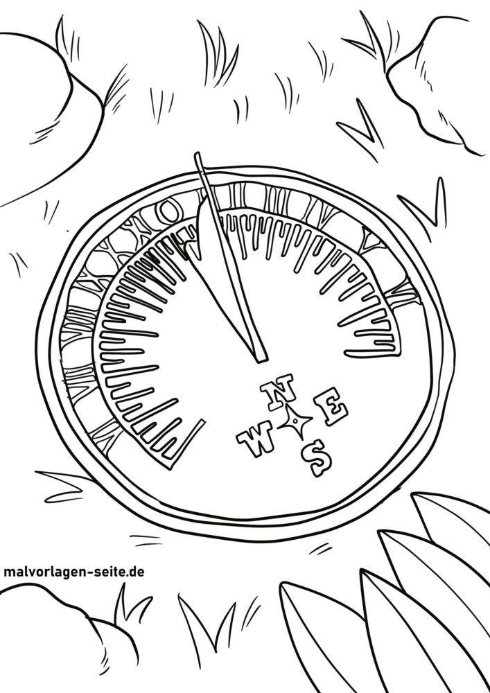 Слънчев часовник за оцветяване