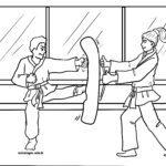 Malvorlage Taekwondo - Kampfsport